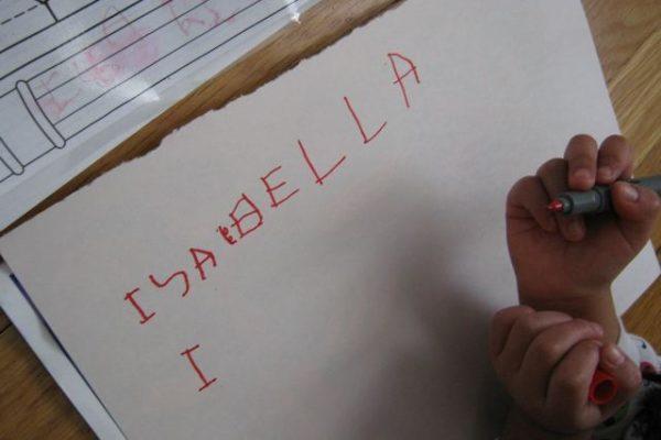Writing Isabella